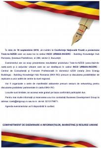 Conferinta nZEB septembrie